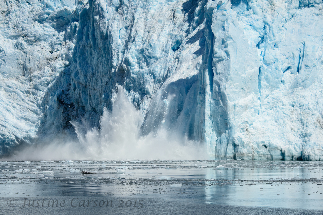 Meares Glacier calving, Unakwik Glacier, Prince William Sound