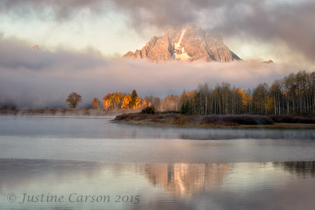 Mount Moran from the Oxbow Bend, Tetons National Park