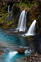 Waterfalls, interior of Iceland