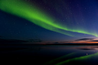 Aurora borealis, or Northern lights, Katktovik, Alaska