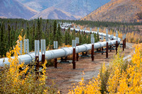 Trans-Alaskan Pipeline, seen from Dalton Highway