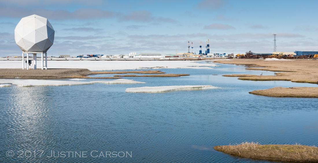 Prudhoe Bay oil fields, north slope, Alaska