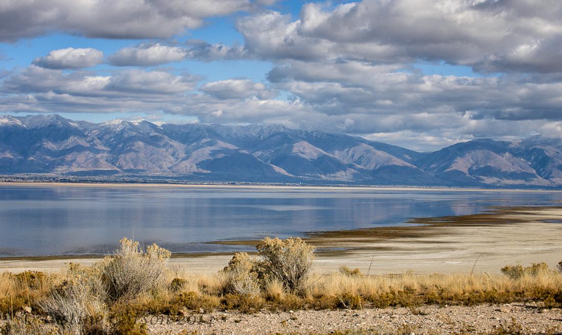 Wasatch Range from Antelope Island, Utah